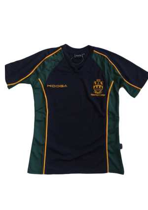 Upper Hutt College PE Top Navy/Green